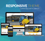 Construction Theme BD004 Yellow / Building / Business / Mega Menu / Side Menu / Parallax / DNN6/7/8