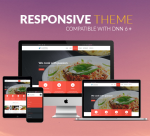 BD007 Red Theme / Restaurant Food / Business/ Cuisine / MegaMenu / Bootstrap3 / Parallax / DNN6/7/8