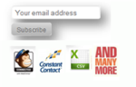 Email SignUp 3.0 ( with Mailchimp, Constant Contact, Aweber, CSV support)