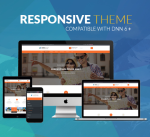 DNN Theme BD008 Orange / Business / Travel / Holiday / Parallax / MegaMenu / Slider / Responsive