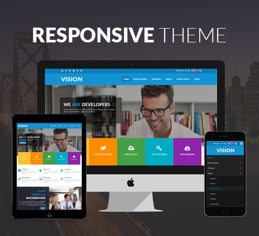 dnn store home product details vision 15 colors pack responsive business megamenu slider parallax dnn page template justdnn by color
