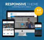 Justdnn Musse 12 Colors Theme / Responsive / Business / Mega Menu / Mobile / Parallax / Site / DNN6+