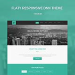 Flaty(30% OFF) - Responsive Theme // 10 Colors // Bootstrap // Flat // Templates // DNN 6/7