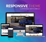 Responsive Theme BD004 Navy / Orange / Car / Automotive / Mega Menu / LeftMenu / Bootstrap / DNN9