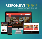 BD010 Red Restaurant Theme / Food / Business / Slider / MegaMenu / Parallax / Mobile / DNN9