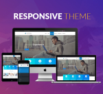 BD007 Blue Responsive  Theme / Page Template / Business / Slider / MegaMenu / Parallax / Mega Menu
