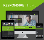 Master Theme 15 Colors Pack / Responsive / Black / Business / Side Menu / Parallax / DNN Site