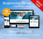 Medical Themes / 15 Colors / Responsive / Bootstrap 3.3.5 / Responsive / DNN 6.x, 7.x ,8.x & DNN 9.x