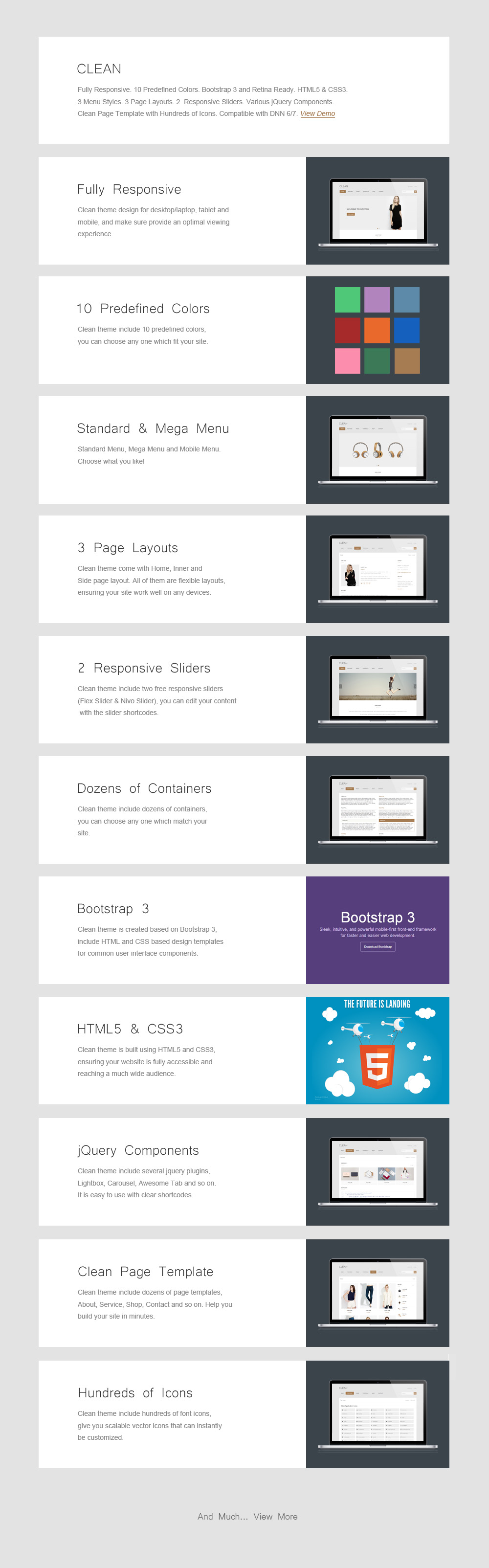 DNN Store > Home > Product Details > Clean - Responsive Theme // 10 ...