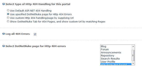 Handle 404 Errors with custom pages