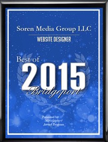 Soren wins Best Web Designer for Bridgeport, CT, 2015