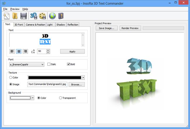 3D Text Studio - Screenshot 1