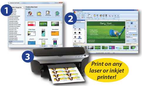 Business Card Studio - choose change printer