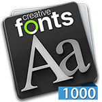 Creative Fonts 1000 Blue