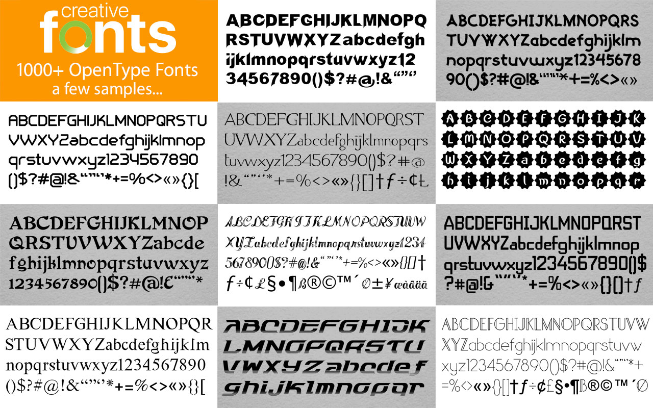 Creative Fonts - 4000 sample 2