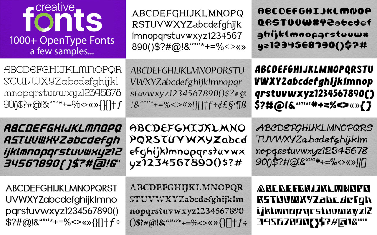 Creative Fonts - 4000 sample 3