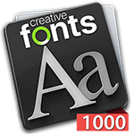 Creative Fonts 1000 Red
