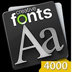 Creative Fonts 4000