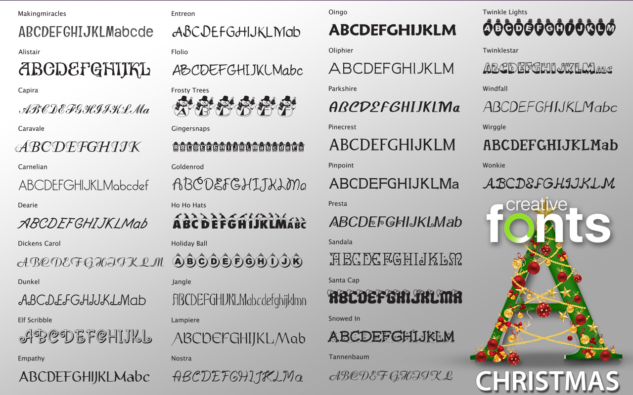 Creative Fonts - Christmas sample 2