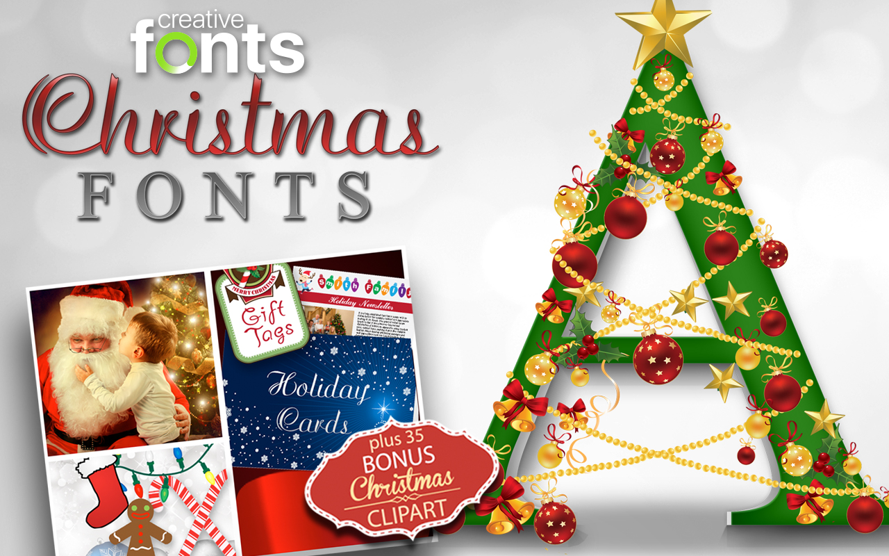 Creative Fonts - Christmas sample