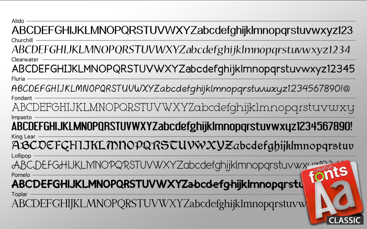 Creative Fonts - Classic sample 2