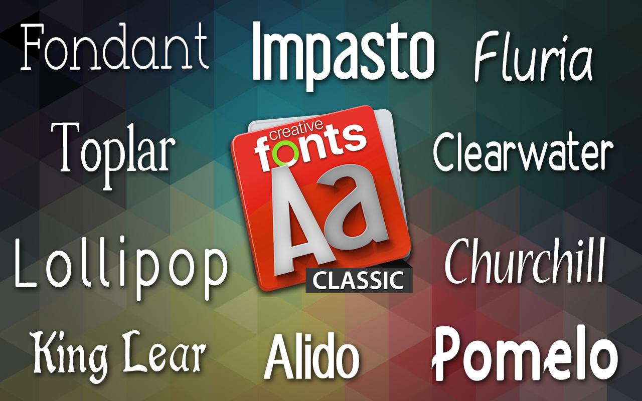 Creative Fonts - Classic sample 1