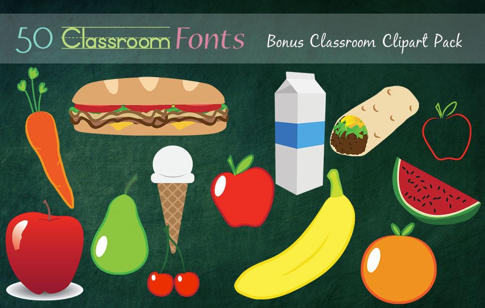 Creative Fonts - Classroom clipart sample 2