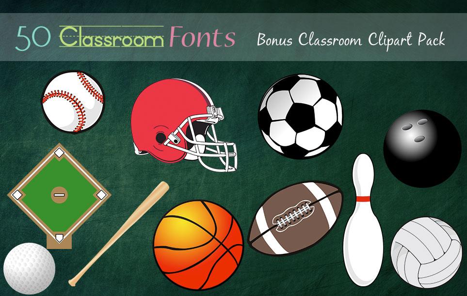 Creative Fonts - Classroom clipart sample 3