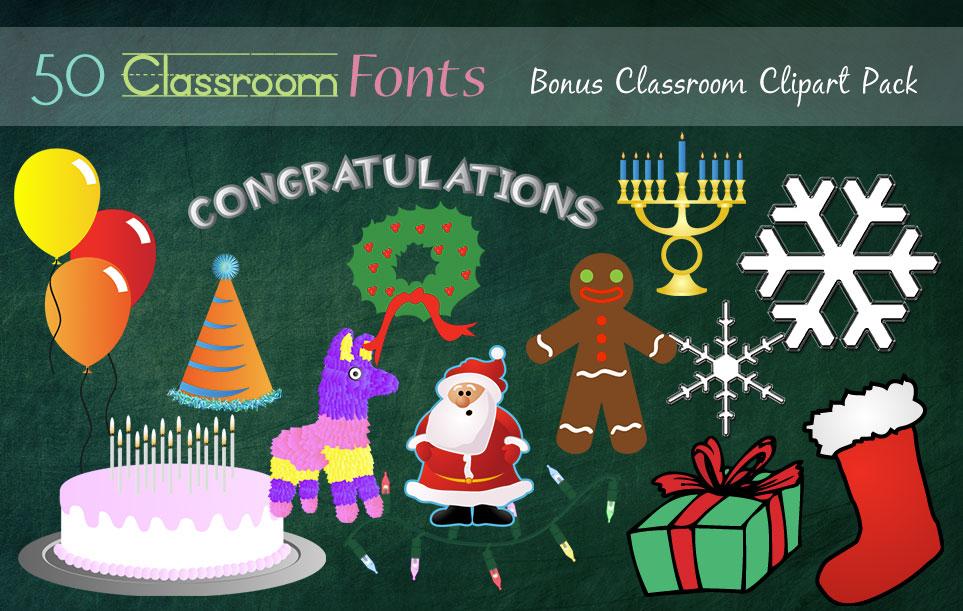 Creative Fonts - Classroom clipart sample 4