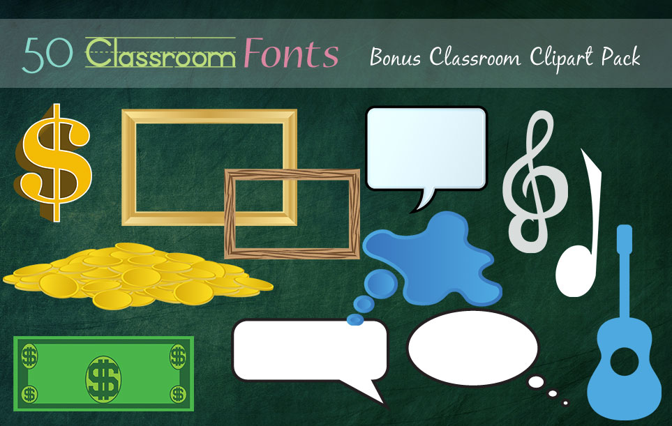 Creative Fonts - Classroom clipart sample 5