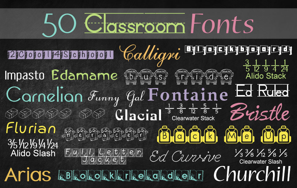 Creative Fonts - Classroom sample 1