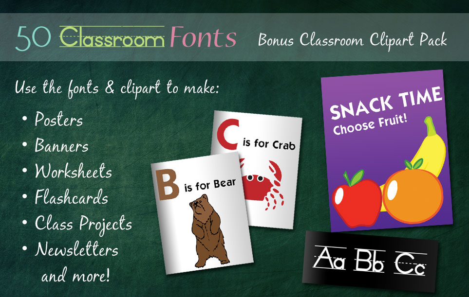 Creative Fonts - Classroom uses 1