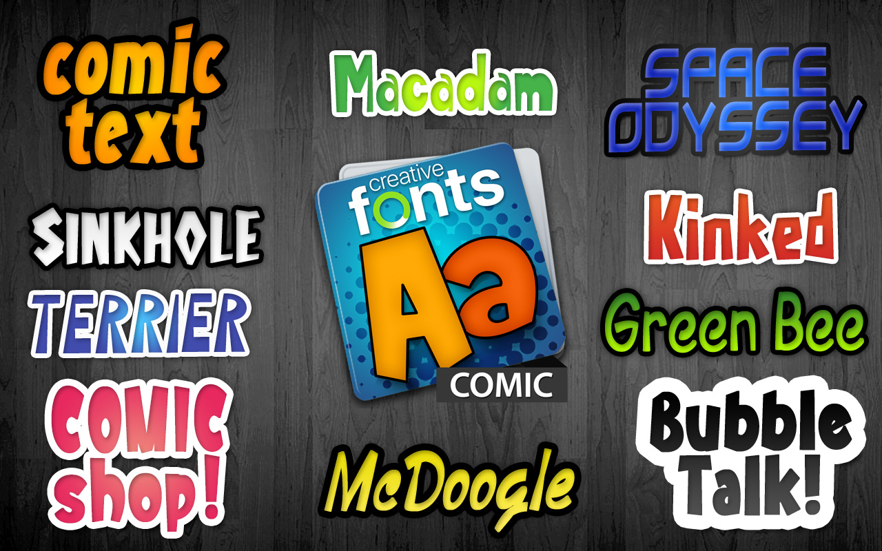 Creative Fonts - Comic sample 1