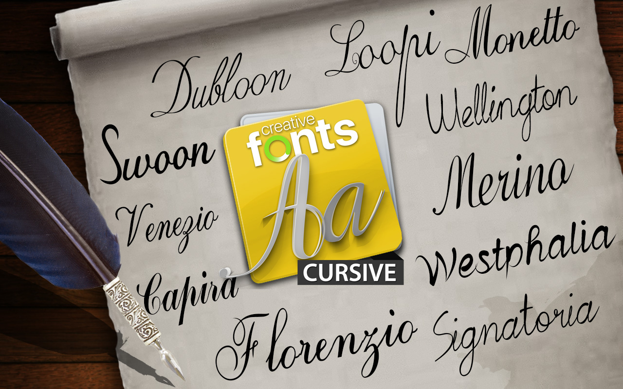 Creative Fonts - Cursive sample 1