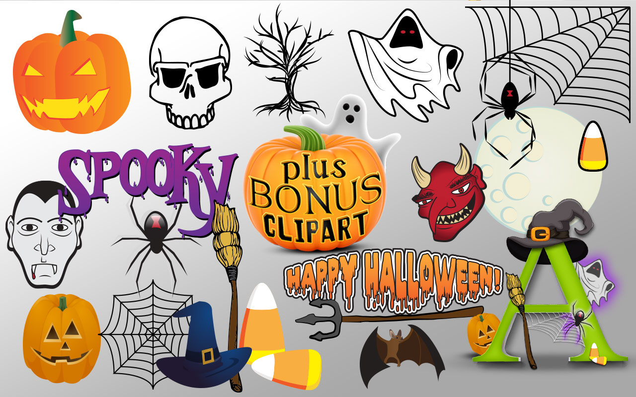 Creative Fonts - Halloween clipart sample 1