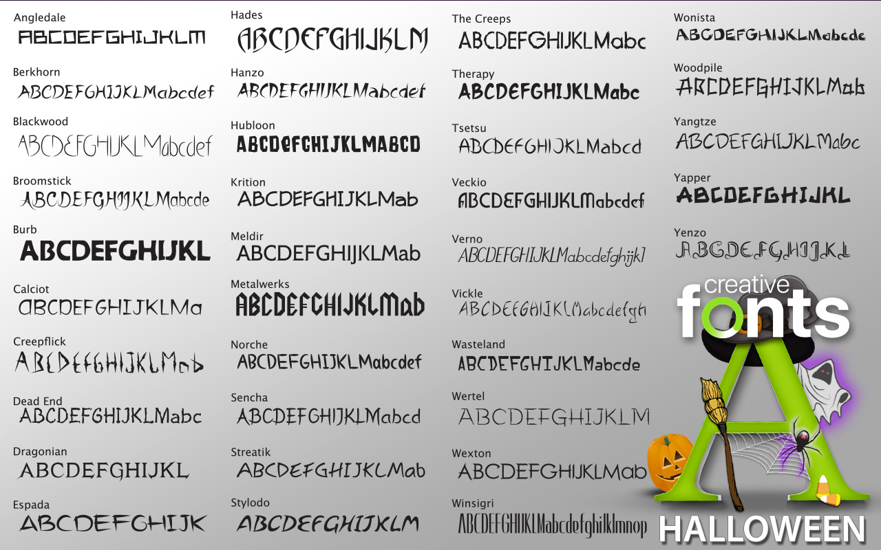 Creative Fonts Halloween | #1 Selling Logo Software for over 15 ...