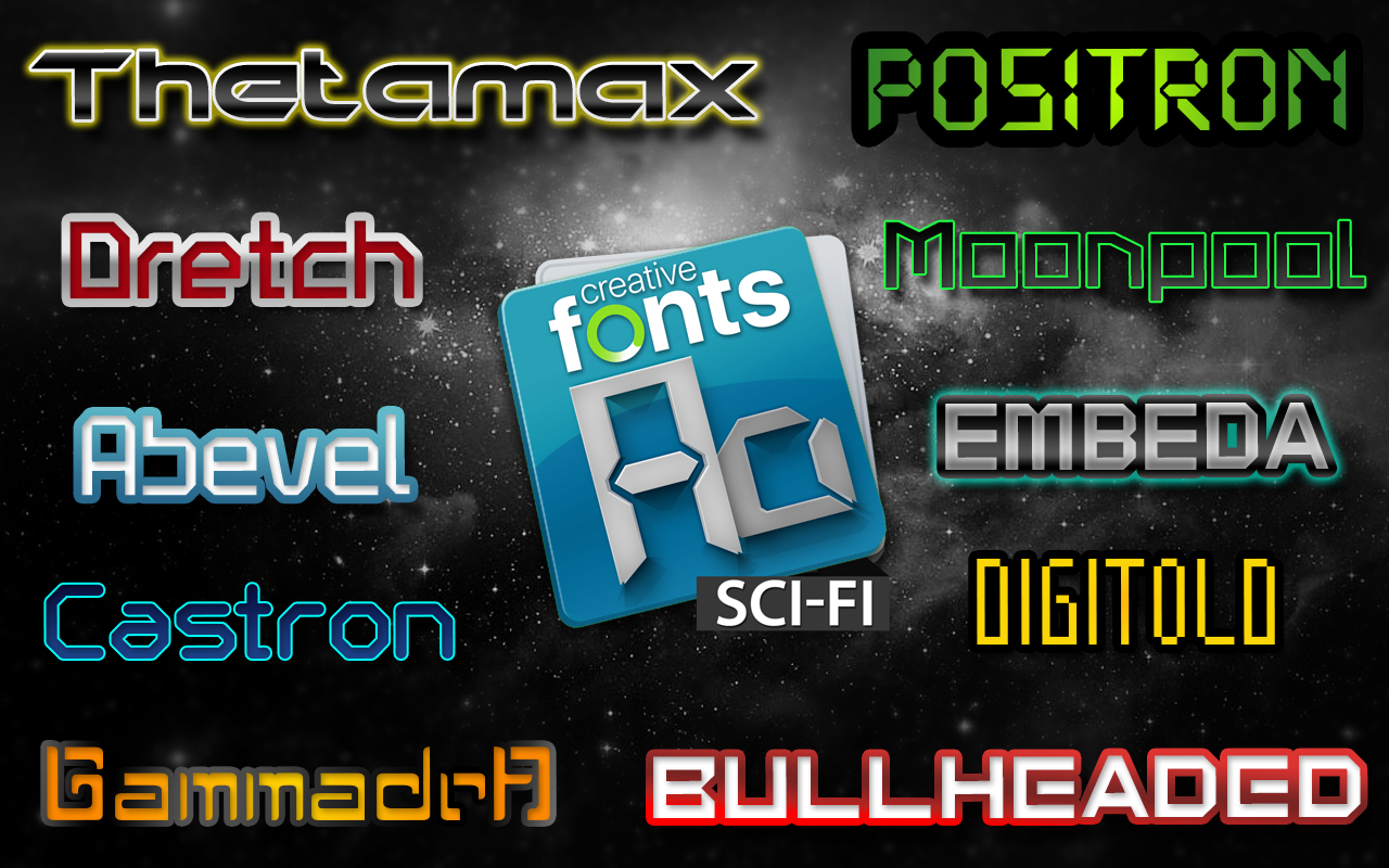 Creative Fonts - Sci Fi sample 1