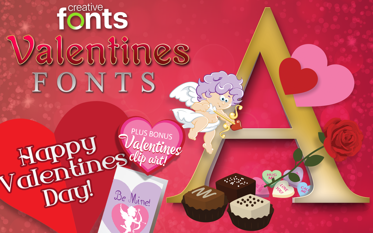 Creative Fonts Valentines Samples 1
