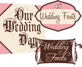 Wedding Fonts - small sample