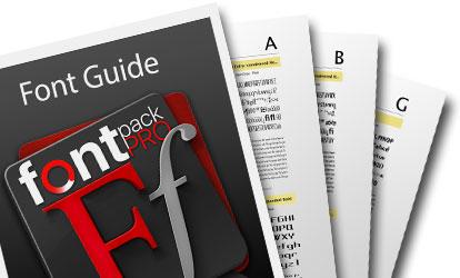 FontPack Pro - Font Guide