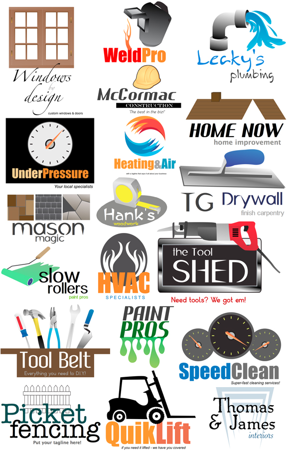 Sample Construction Logos