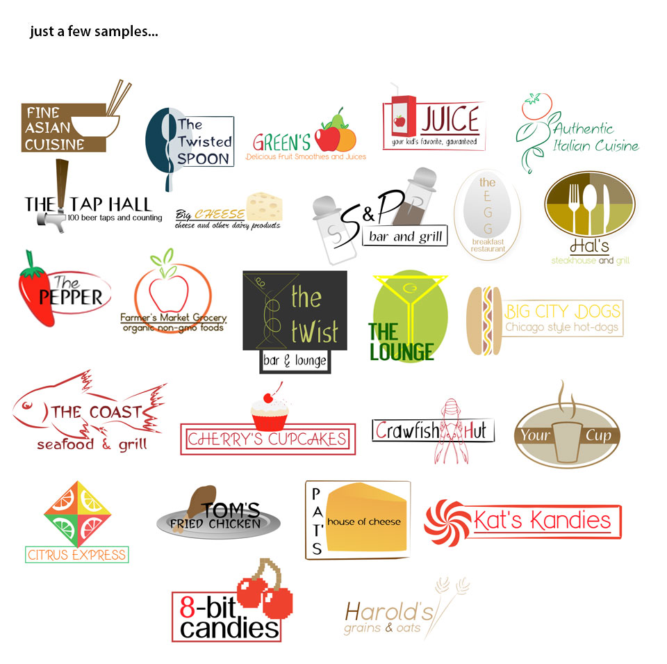 Food and Beverage Logo Template Samples
