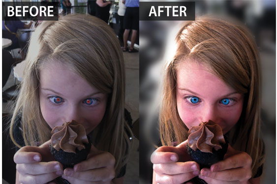 Phototools 2 - before and after retouch