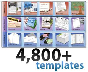 Print Shop Deluxe - 4800 templates