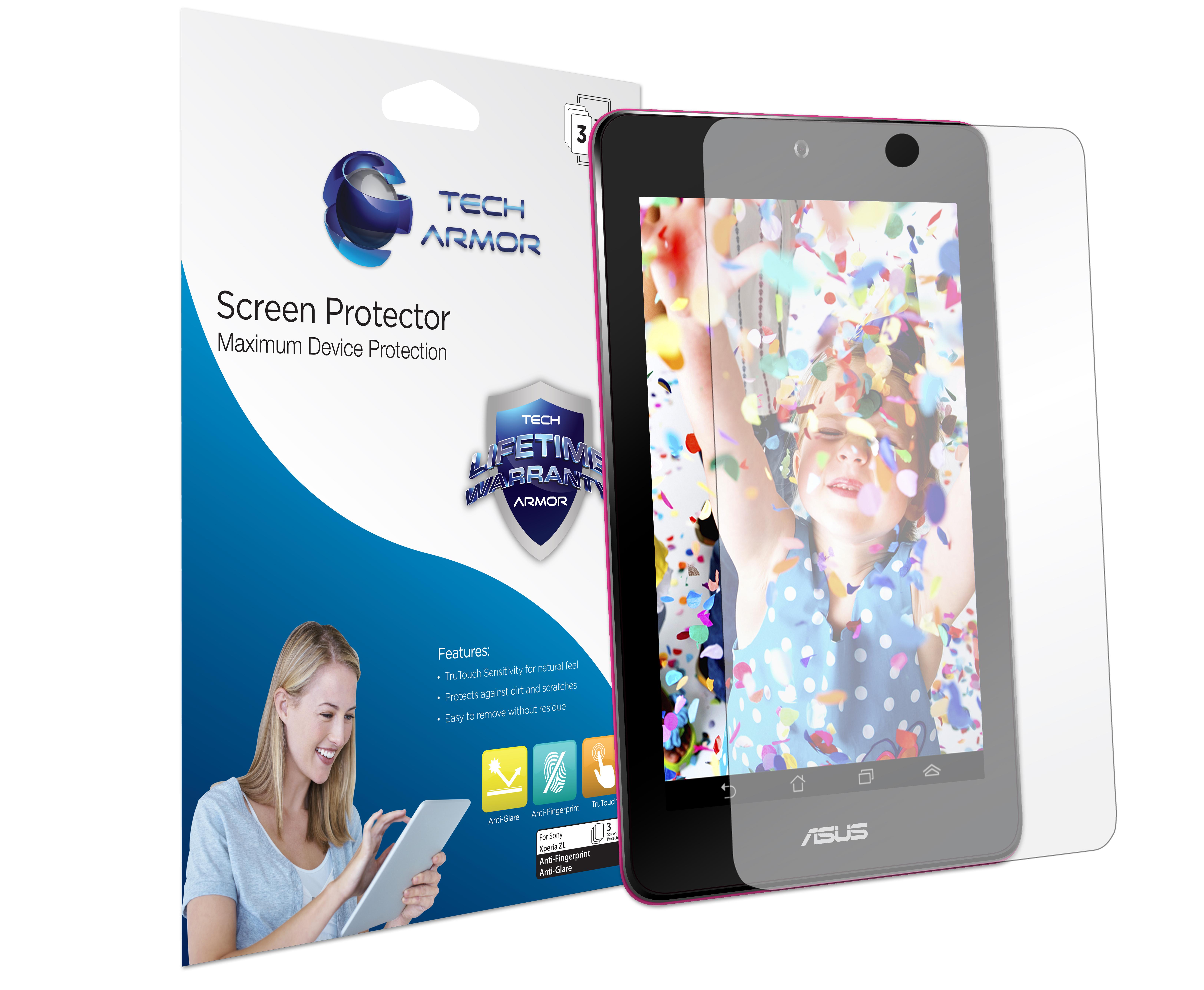 """Tech Armor ASUS MeMO Pad 7"""" Anti-Glare/Anti-Fingerprint Matte Screen Protector [3-Pack] at Sears.com"""