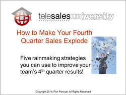 How to make your fourth quarter sales explode.