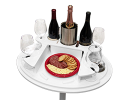 Party Table with Zoomed Tray