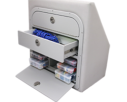 Crest Tackle Storage Unit with Drawer Open