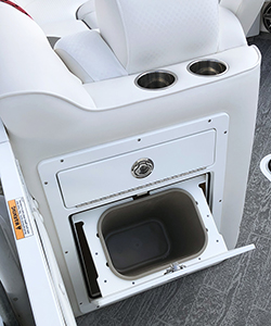 JC Tilt-Out Trash Can Open in Cushion