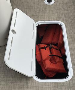 Floor Storage Lid on Boat